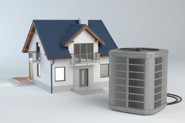 House and new HVAC