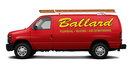 Ballard Plumbing Heating & Air Conditioning Van